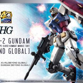 Bandai Gunpla HG 40th Anniversary GUNPLA – RX-78-2 Gundam (BEYOND GLOBAL)