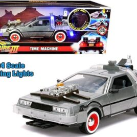 JADA Back to the Future III Hollywood Rides Diecast Model 1/24 DeLorean Time Machine